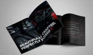 Abarth brand design brochure spread