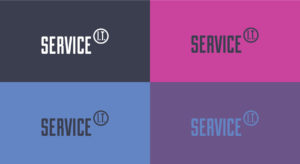 Service IT branding web design identity colours