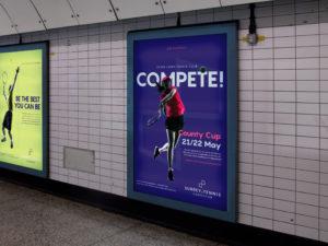 Surrey-Tennis-branding-signage-underground