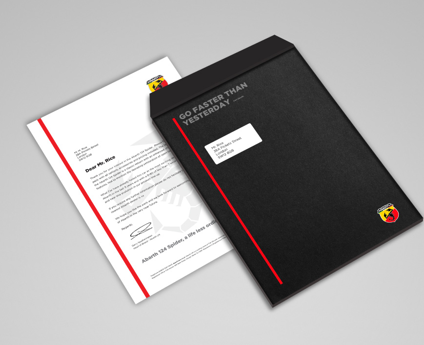 Abarth-brand-design-envelope-welcome-pack