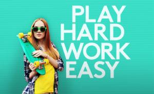 Logitech play hard work easy girl