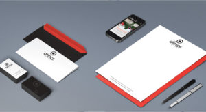 The Office In Town branding stationery