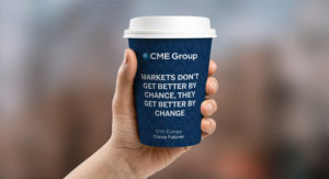CME Group digital marketing coffee cup