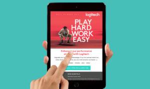 Logitech-email-marketing-tablet