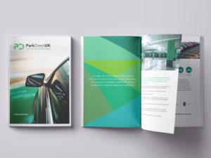 park direct branding web design brochure