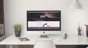 Service IT branding web design desktop website