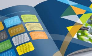 CME Group digital marketing A4 brochure spread
