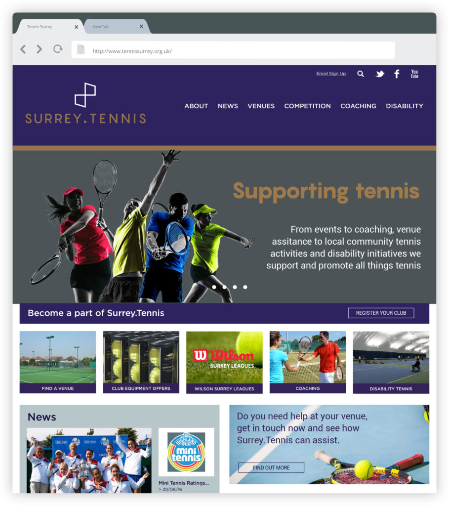Surrey-Tennis-branding-web-design-desktop-website