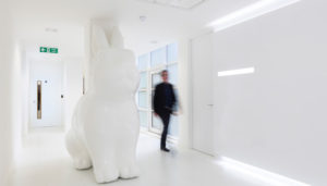 The Office In Town interior rabbit