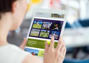 Surrey Tennis branding web design email marketing