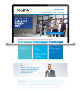 Samsung Europe web development desktop